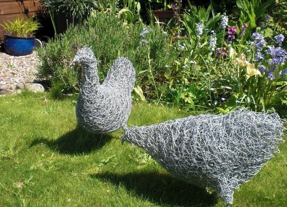 Wirework Chickens