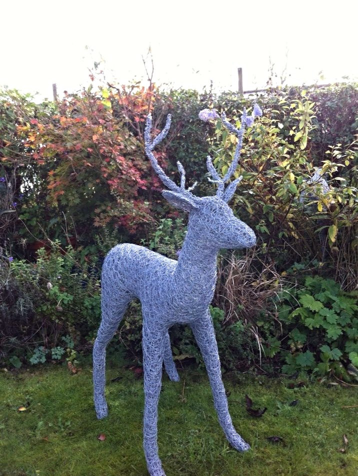Wirework Large Deer with Antlers