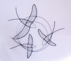 Wirework Swallow Wall Hanging