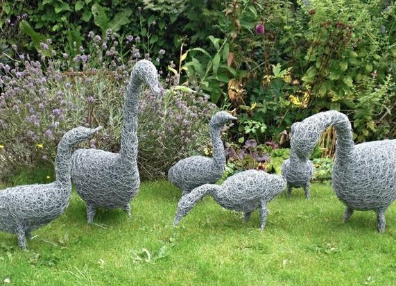 Wirework Geese & Goslings