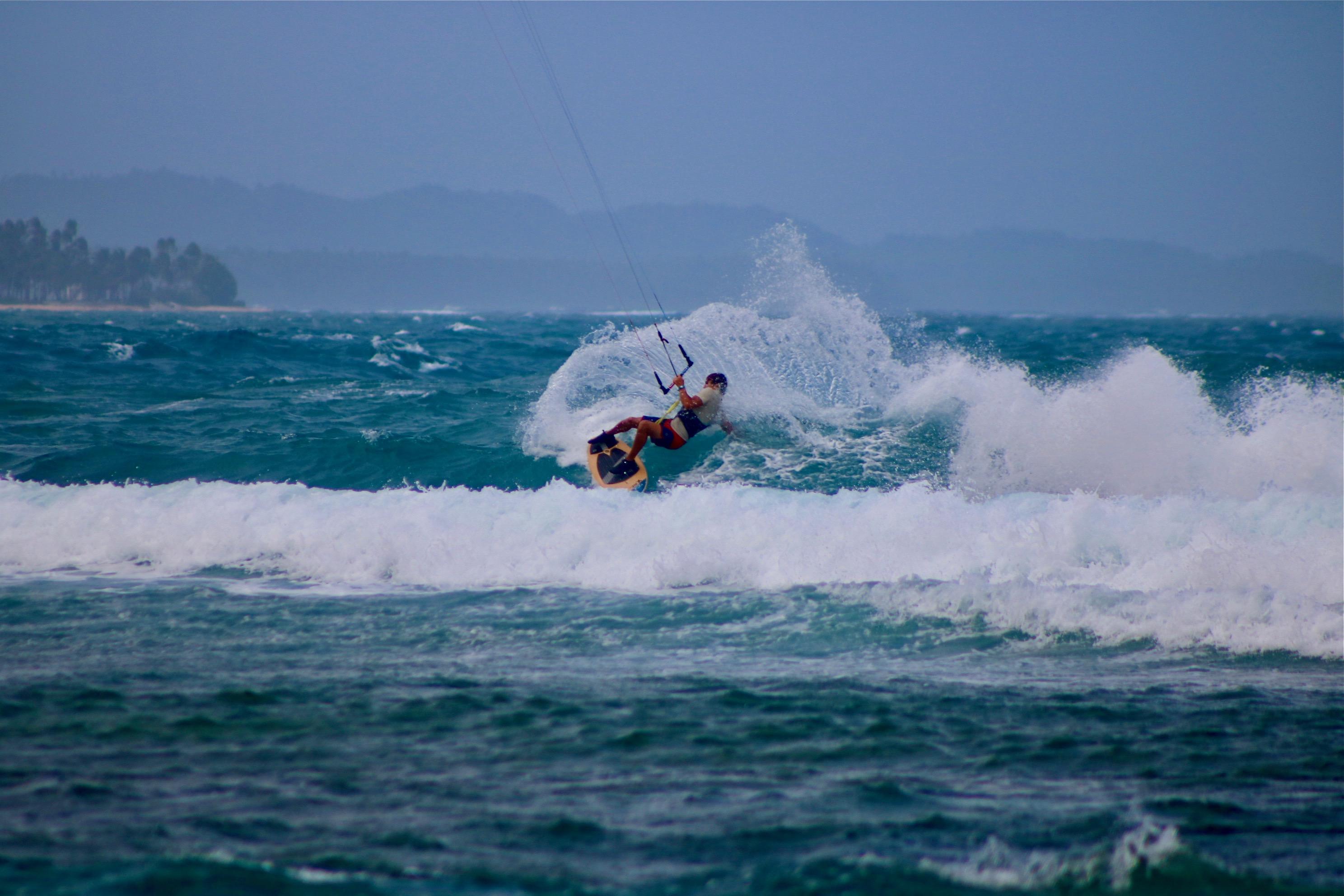 Kitesurf wave Siargao