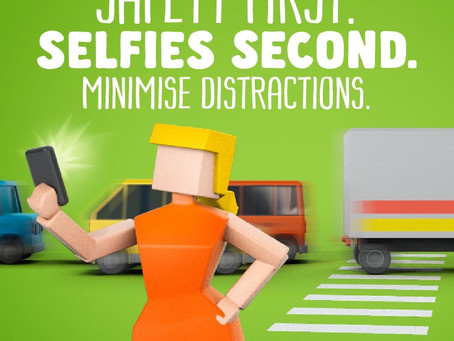 Taking selfies and putting safety at risk..