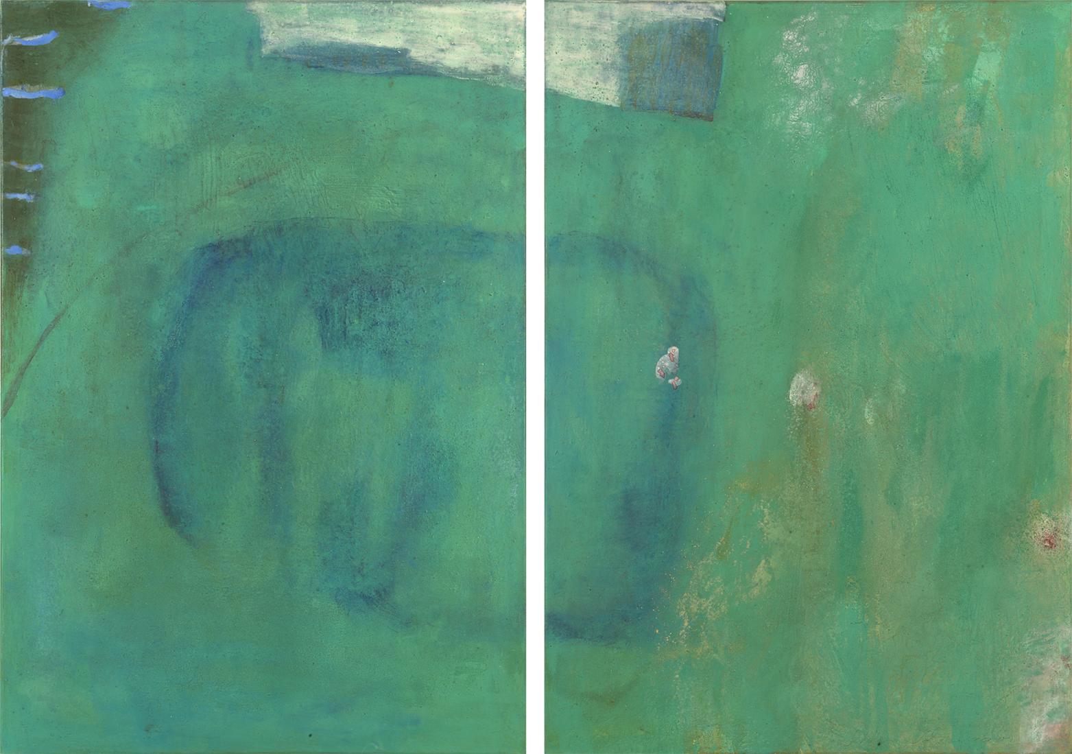 Ich suche dich im Nymphen grün 140 x 100