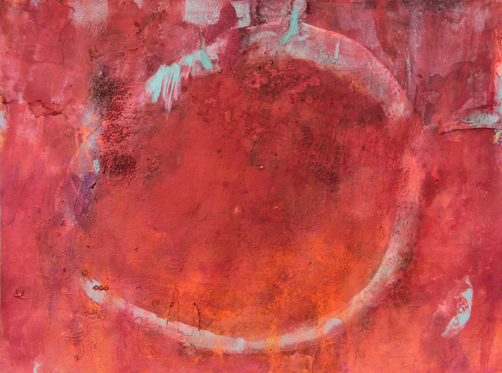 Rot verlässt die Heimat um die Welt zu erobern 75 x 56