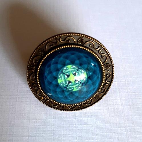 טבעת מנדלה בצבע כחול