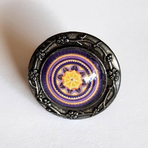 טבעת מנדלה בצבע סגול כהה