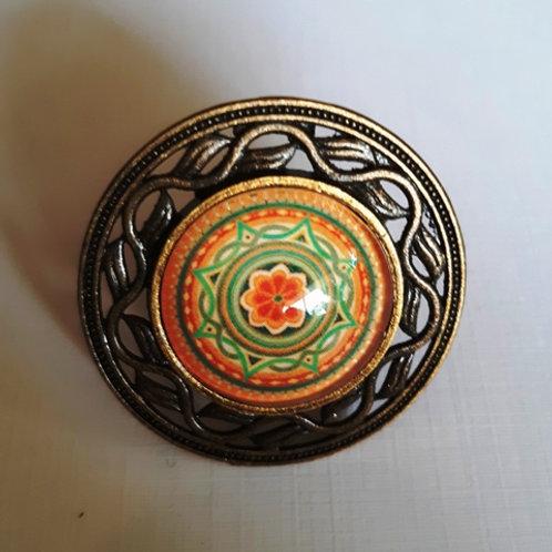 טבעת מנדלה בצבע כתום