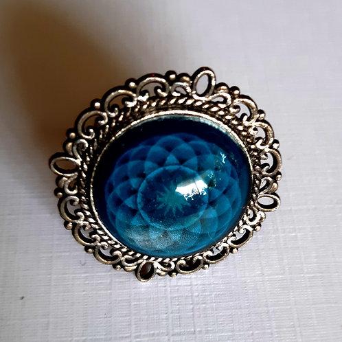 טבעת מנדלה בצבע כחול כהה