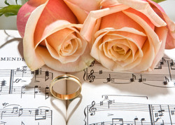 Sheet music of the Wedding March with ro