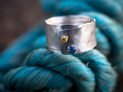 sterling silver textured swirl ring, photography by Andrew Hyde