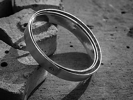 sterling silver rivet bangle, photography by Andrew Hyde