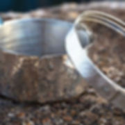 sterling silver rivet bangles, photography by Andrew Hyde
