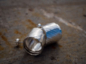 sterling silver textured swirl stud earrings, photography by Andrew Hyde