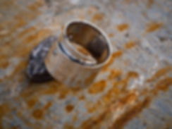 sterling silver rivet ring, photography by Andrew Hyde