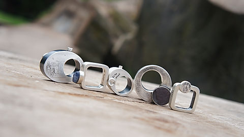 rhi frankton sterling silver hollow rings collection 'gran'