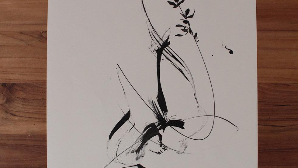 Floral abstrato em movimento II