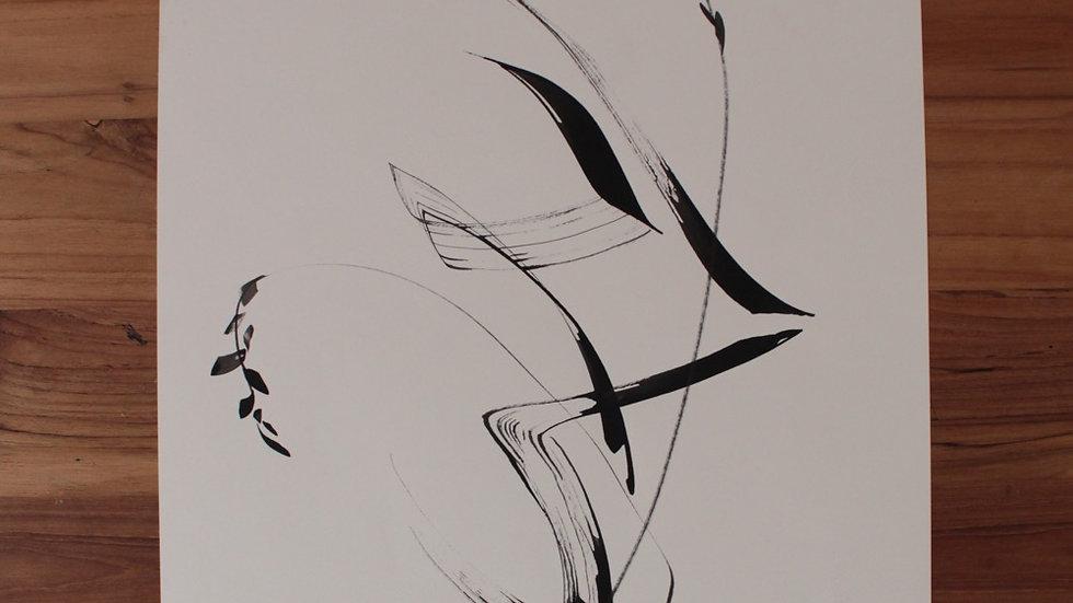 Floral abstrato em movimento III