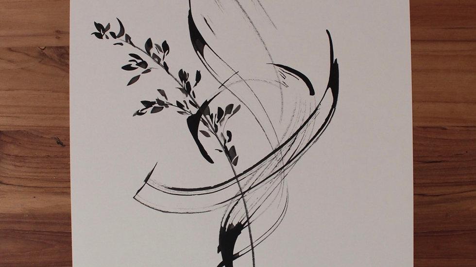 Floral abstrato em movimento