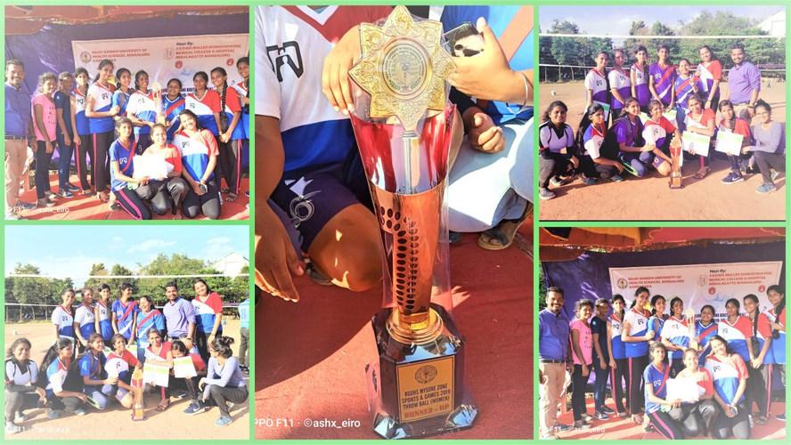Runner Up Trophy in RGUHS Mysuru Zonal T