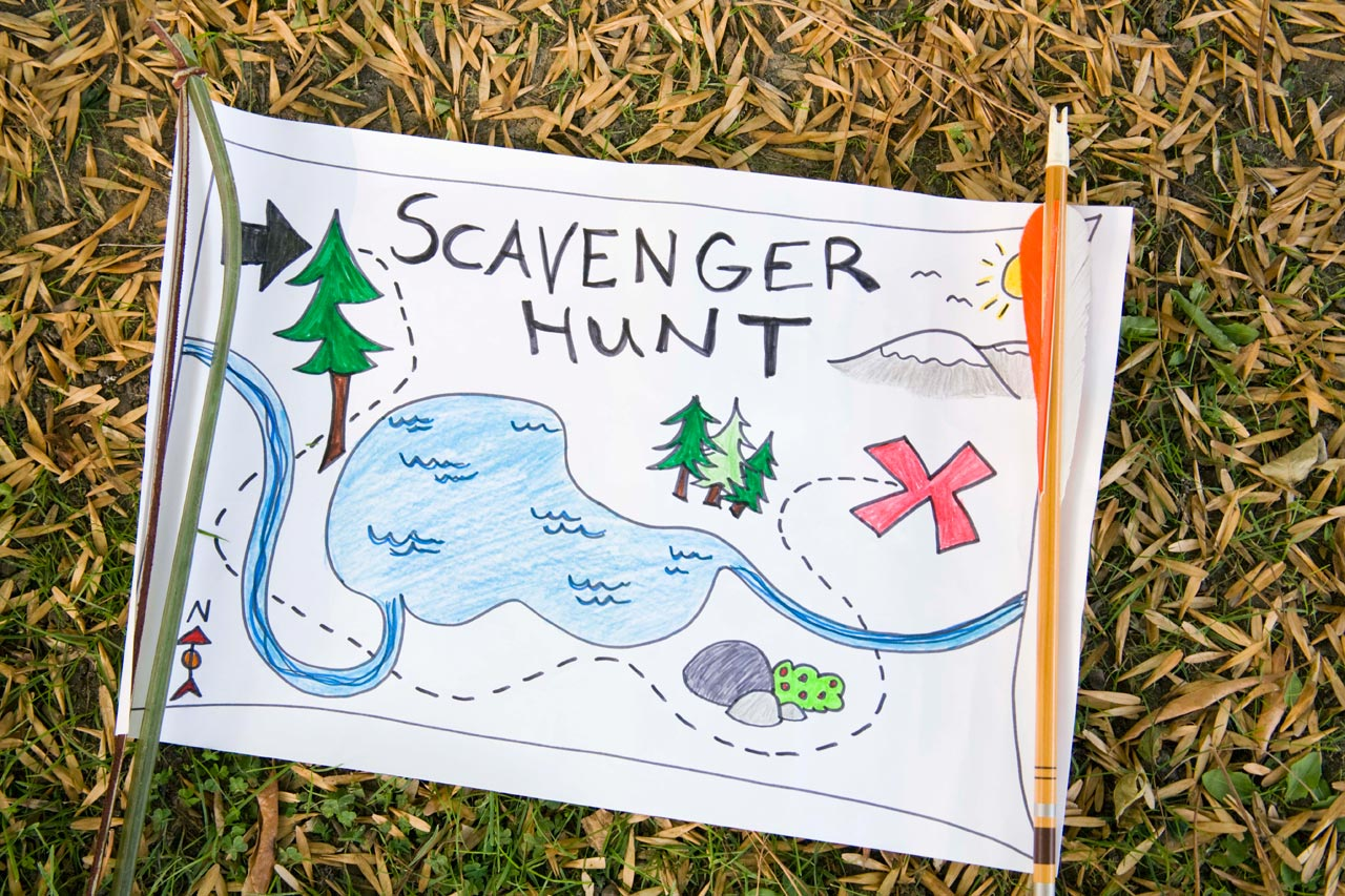 Treasure and scavenger hunts