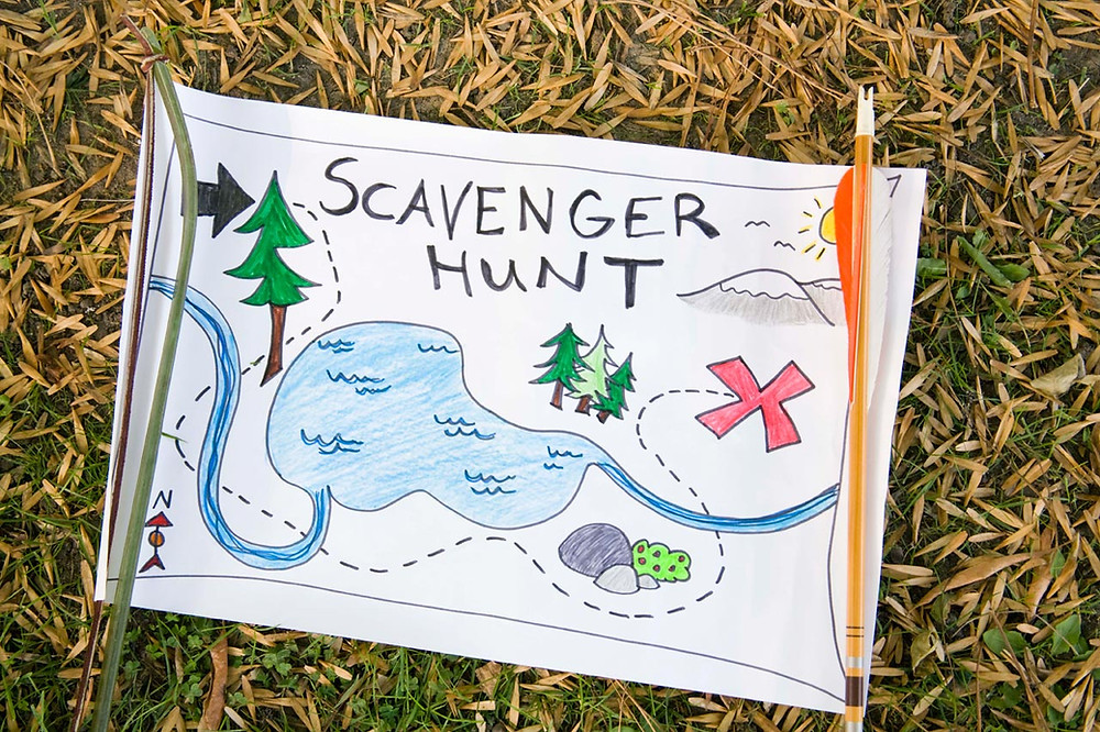 Scavenger hunt children's activity