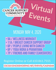 MISSION MONDAYS - Support Cancer Support Community of the Greater Lehigh Valley