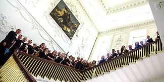 County Kildare Orchstra on Castletown House stairs