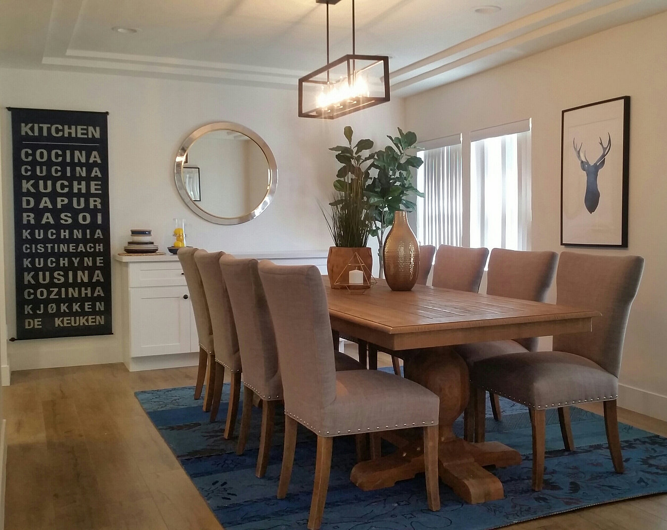 white oak home staging home staging san diego dining room ta