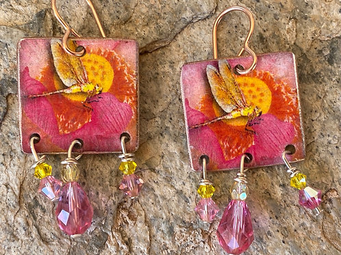 Dragonfly Spring Earrings