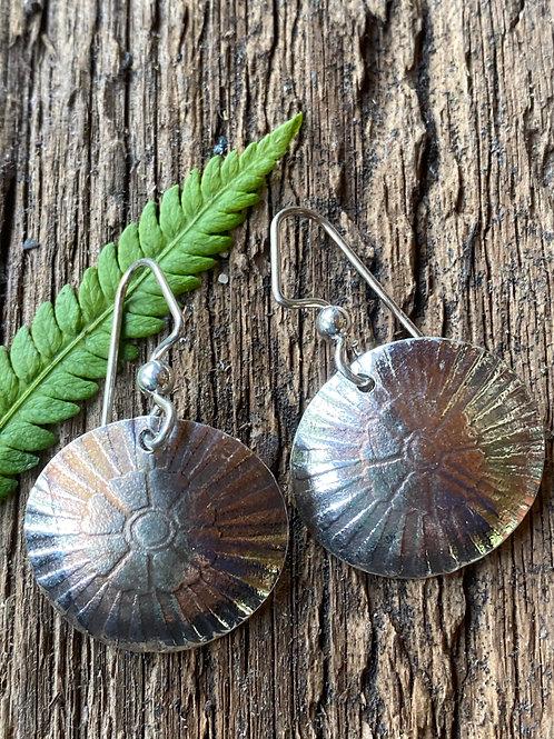 Embossed Sterling Silver Earrings