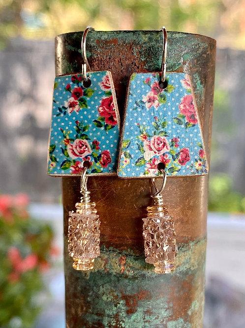 Faux Floral Vintage Charm Earrings