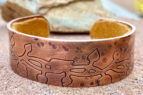 Textured Copper Cuff Bracelet