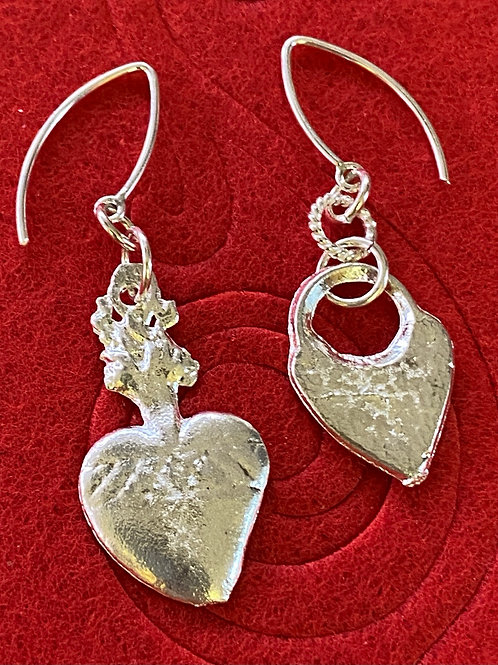 Milagro Heart Earrings was sterling silver wires.
