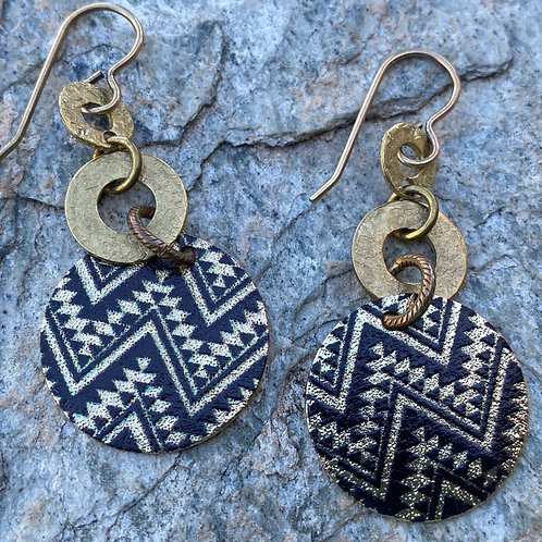 Etched Moroccan Earrings