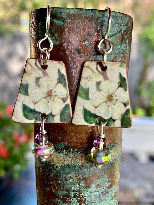 Floral Charm Earrings