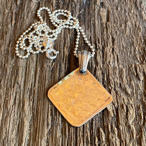 Embossed Sterling Silver Pendant Necklace