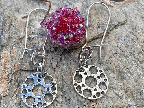 Sterling Silver Holey Drop and Dangle Earrings