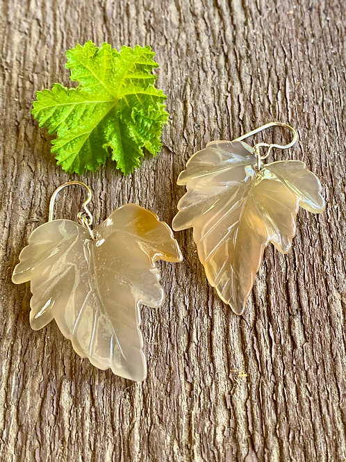 Onyx Leaf with sterling silver