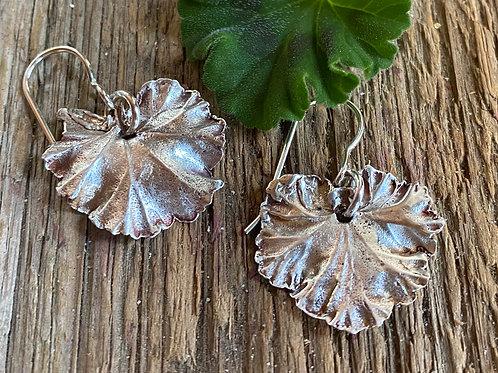 Fine Silver Geranium Leaves