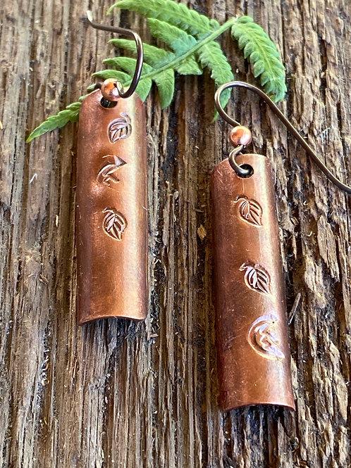 Leaf stamped copper