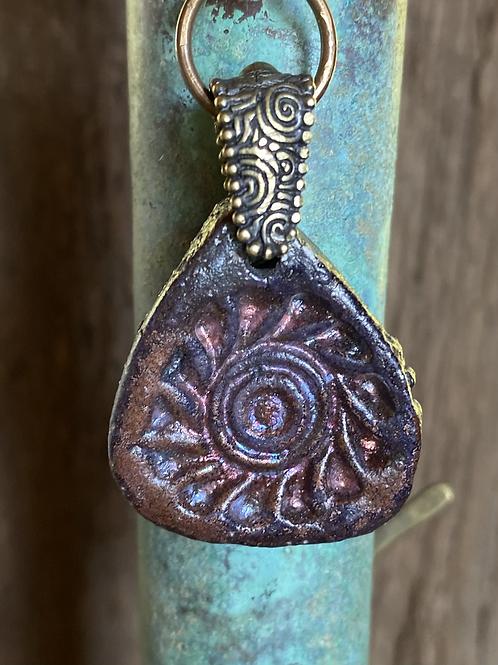 Raku Clay abd Textured Chaun Necklace
