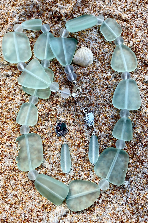 Seafoam Green Seaglass Necklace