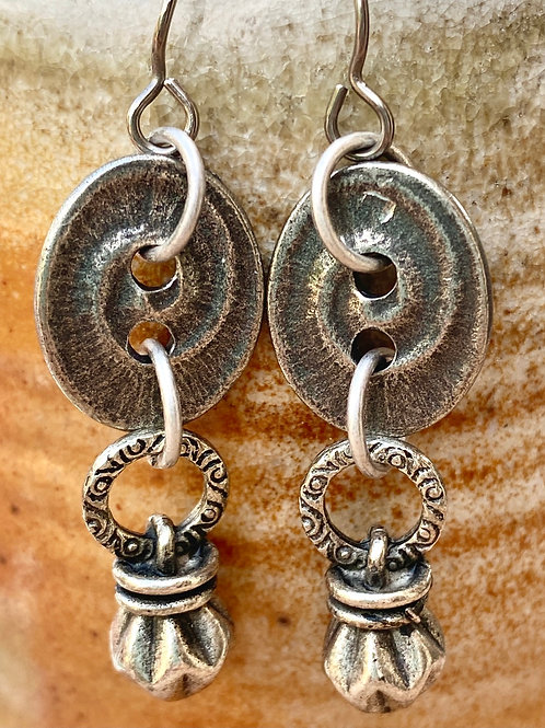 Pewter/Silver drop and dangle earrings