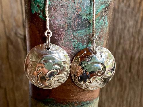 Sterling Silver Swirl design earrings .925