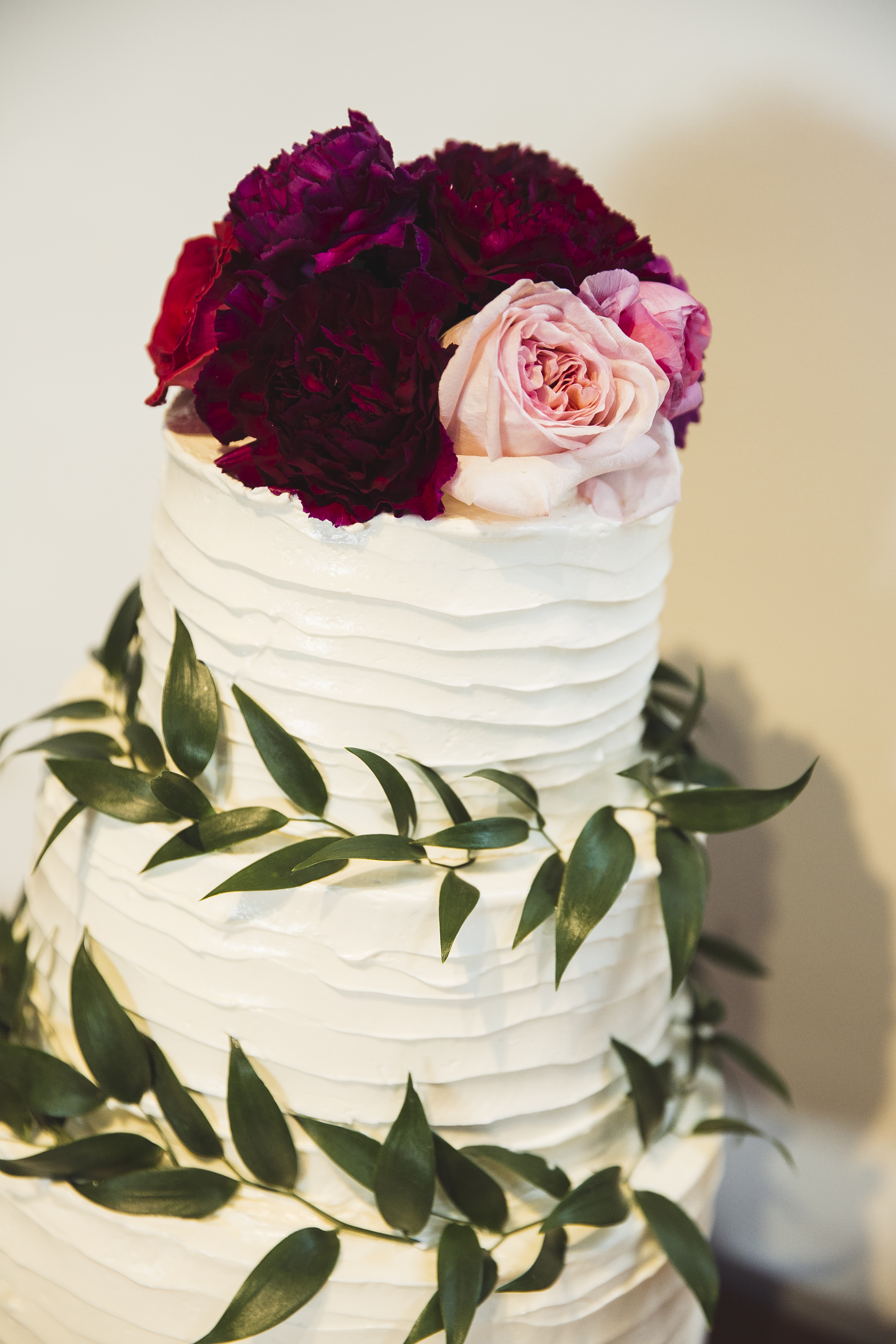 2 Tier Dirty Frosted Wedding Cake