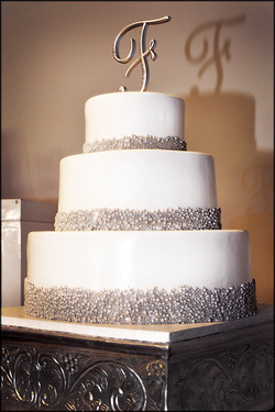 Wedding Cake with Pearl Dragees
