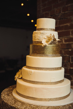 6 Tier Gold Wedding Cake