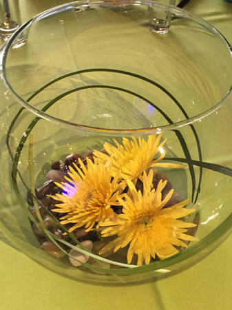 Bubble Bowl with Spider Mums