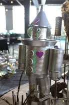 Tin Man Themed Centerpiece