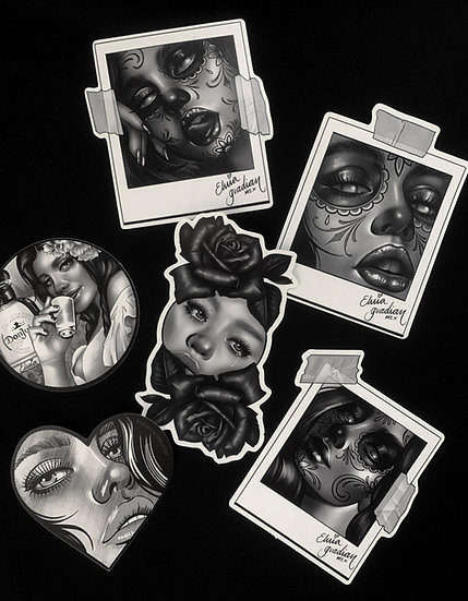 Sticker pack #2  -  (6 pieces)